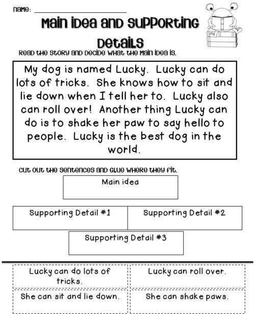 small resolution of 10 Stunning Main Idea And Supporting Details Worksheet 2021
