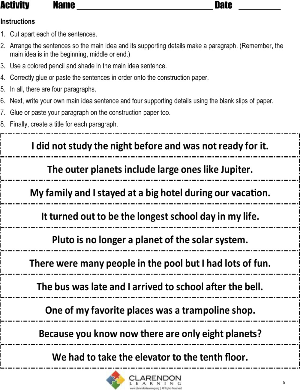 medium resolution of 10 Unique Main Idea And Supporting Details Worksheets 4Th Grade 2021