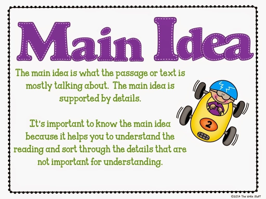 10 Stylish What Is The Main Idea