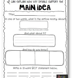 10 Elegant Main Idea Activities 4Th Grade 2021 [ 1094 x 853 Pixel ]