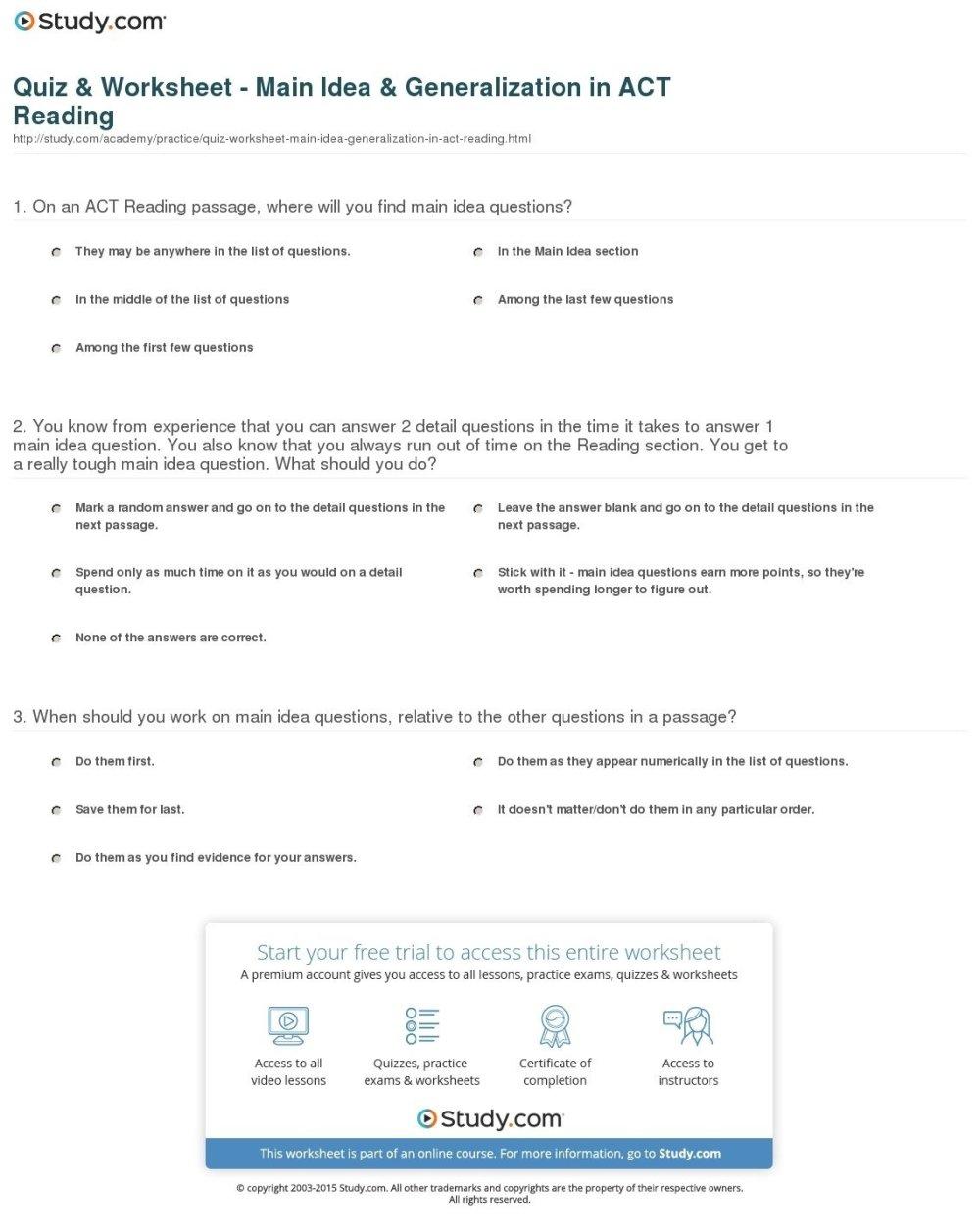 medium resolution of 10 Pretty Short Passages For Main Idea 2021