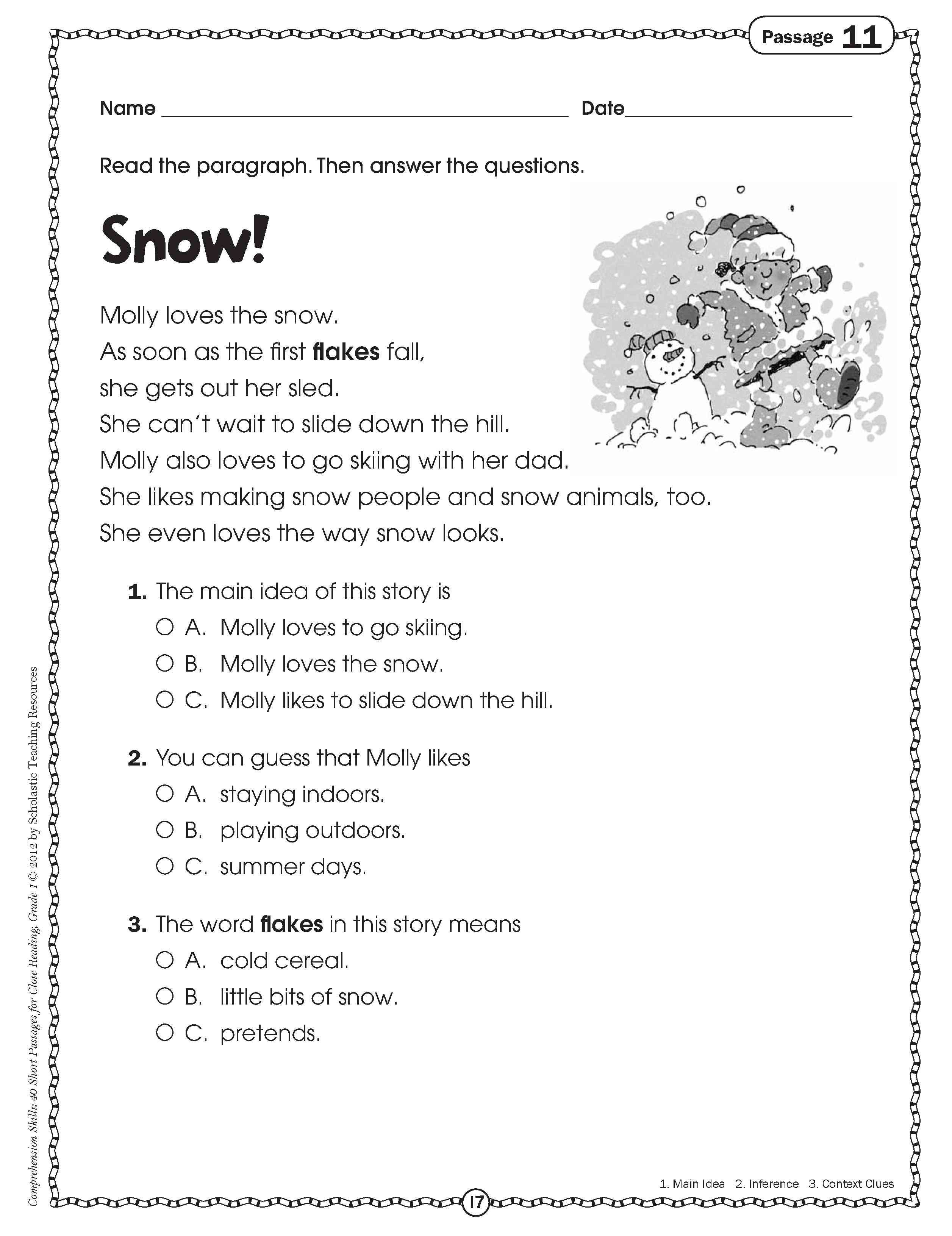 10 Best Main Idea Worksheets For First Grade