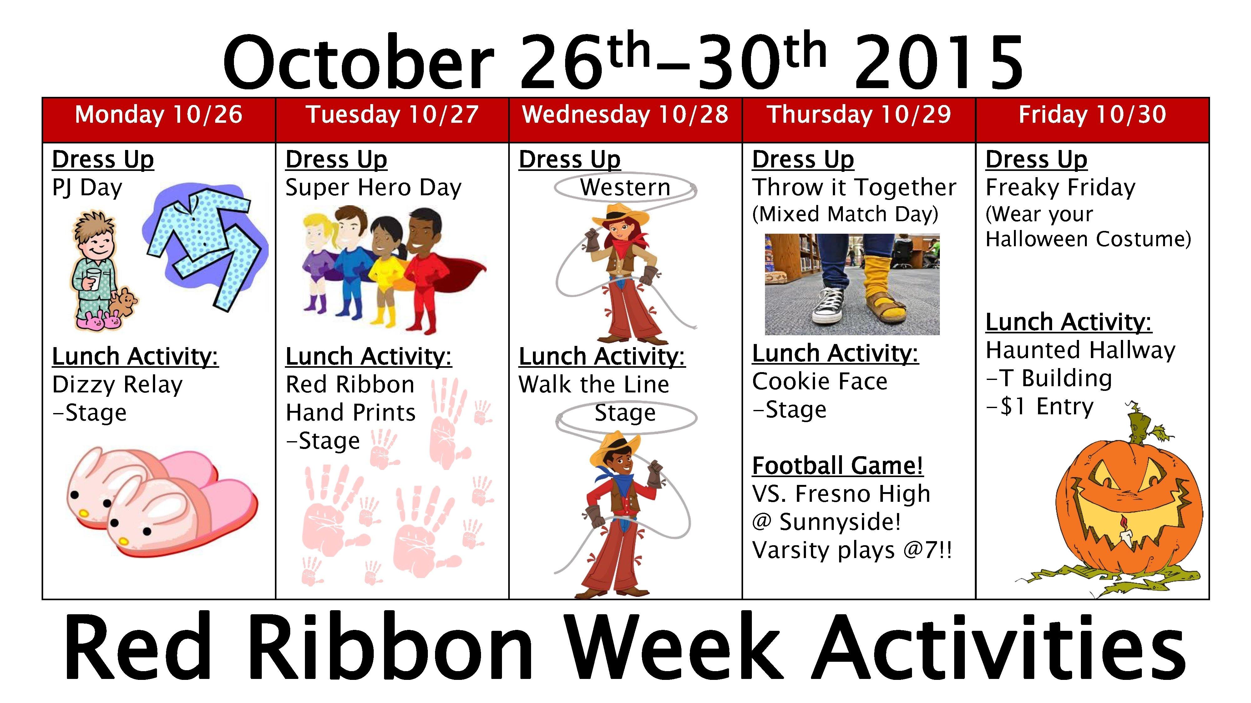 10 Best Red Ribbon Week Ideas For Middle School