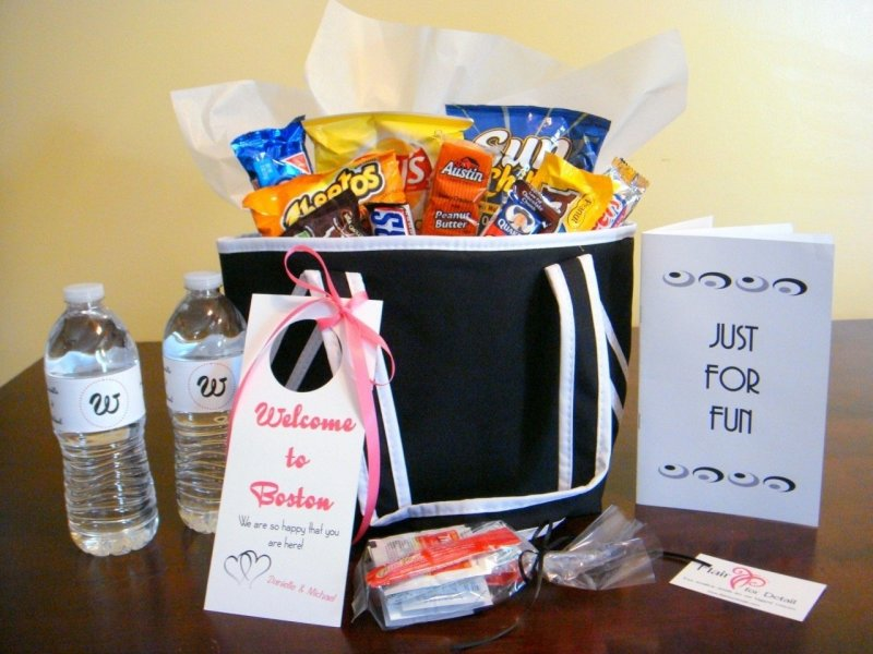 Ideas For Wedding Hotel Gift Bags Picture Gallery