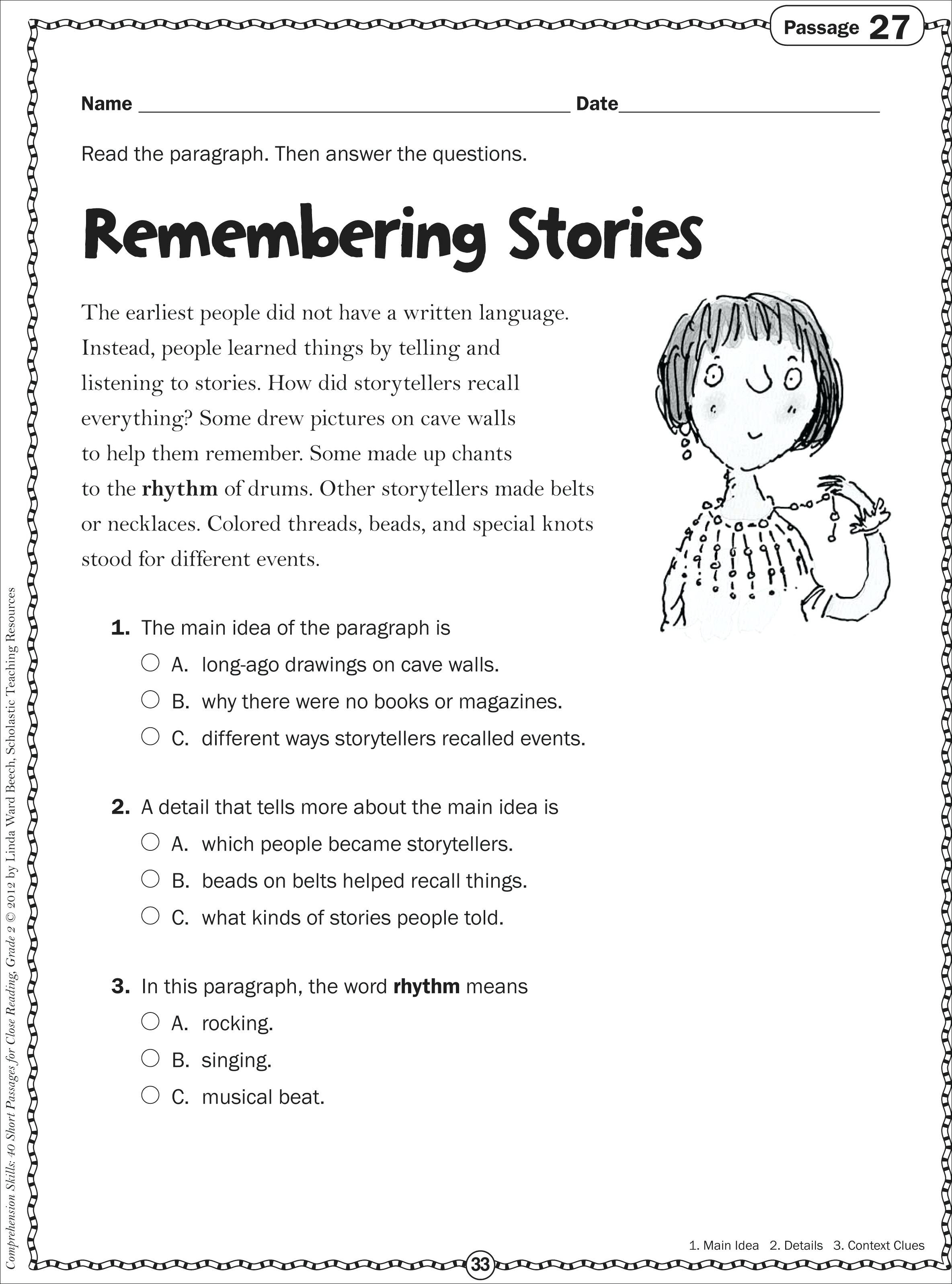 10 Stunning 5th Grade Main Idea Worksheets