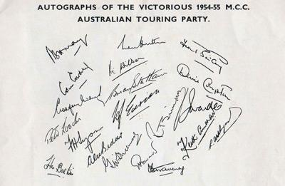 England Test Cricket signed memorabilia