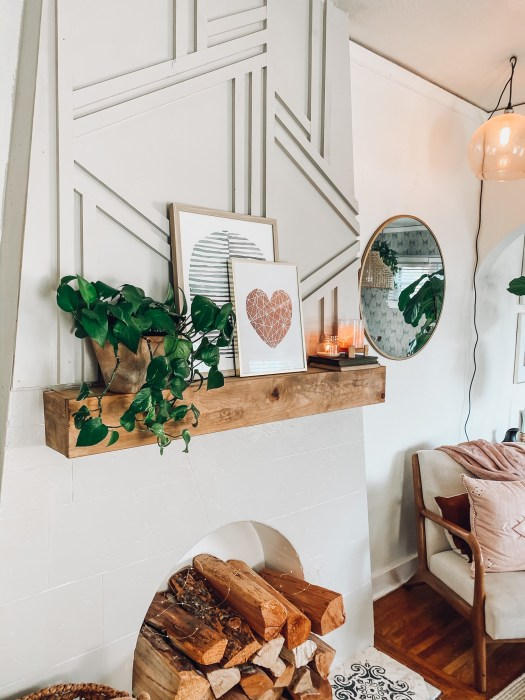How To Update An Old Fireplace On A Budget Uniquely Taylor Made