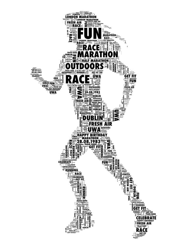 Runner Personalised Word Art Print FREE UK PP