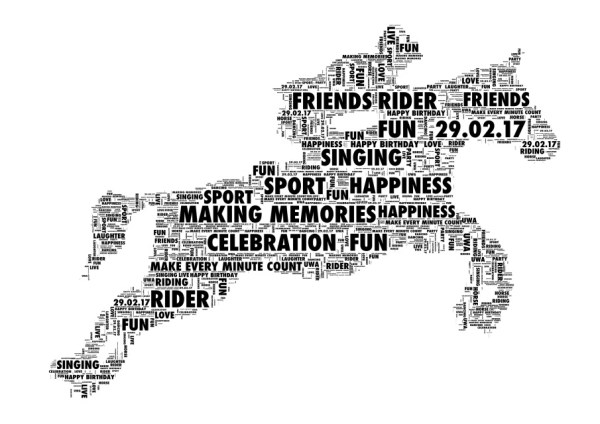 Horse Rider Personalised Word Art Print 2 Variations
