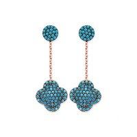 Clover earrings, clover earring,silver clover earrin,gold ...