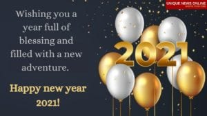 Happy New Year Greetings in English 2021