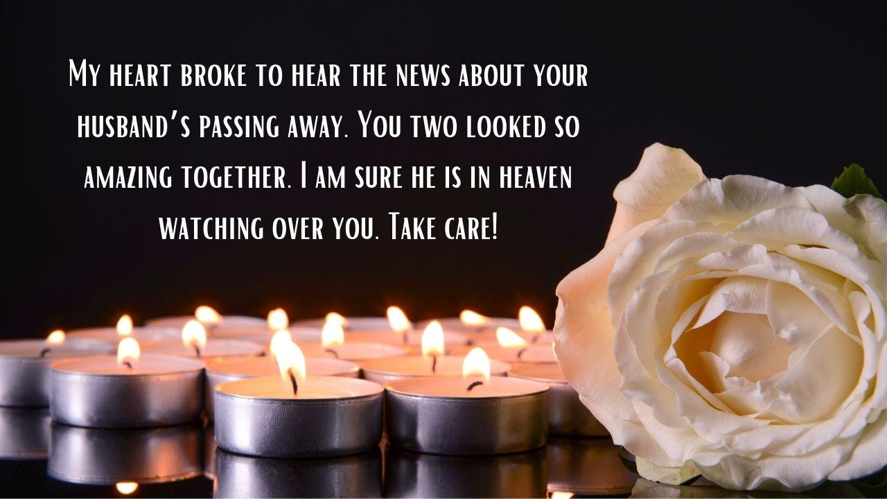 पती हरवल्याबद्दल शोक संदेश