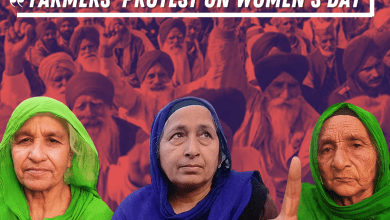 Thousands of women joined the farmers' Protest on Women's Day