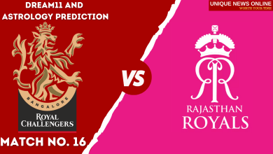 RCB vs RR Match Dream11 and Astrology Prediction, Head to Head, Dream11 Top Picks and Tips, Captain & Vice-Captain, and who will win Royal Challengers Bangalore or Rajasthan Royals?
