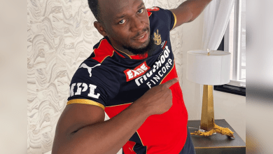 Usain Bolt wore RCB jersey, extends support to Virat Kohli and Co.