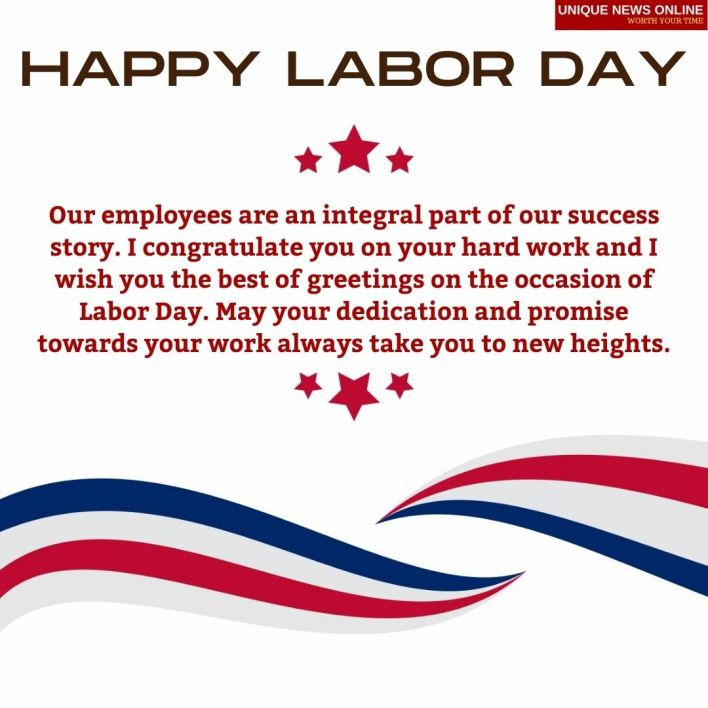 Happy Labor Day Messages for Employees