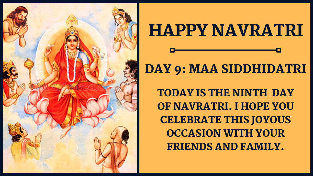 Navratri Day 9 Wishes and Images: Maa Siddhidatri PNG, Status, and WhatsApp Status Video to Download