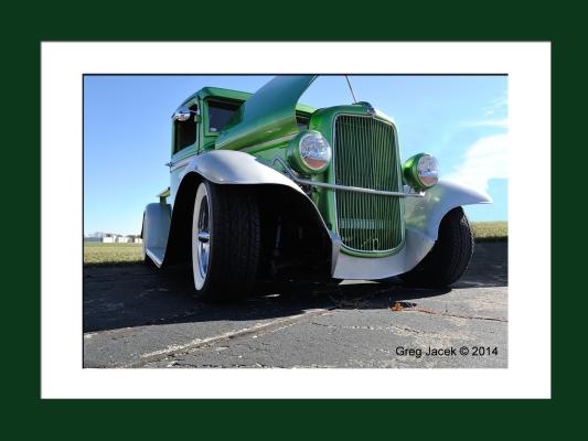 Green Truck Framed