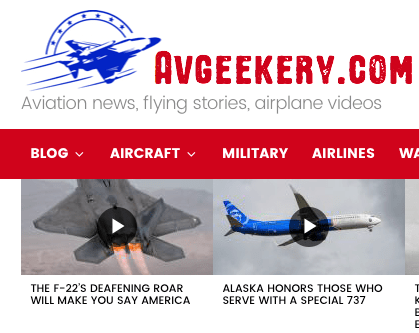 AVGeekery.com's Recent Article Featured My F-22 Raptor Video