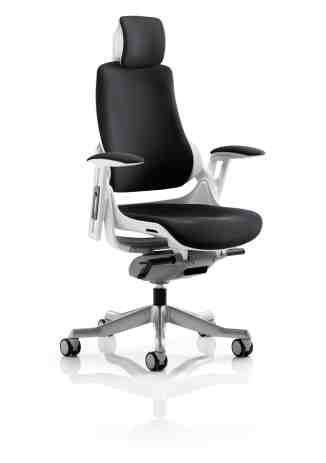 Zodiac Executive Black Fabric Office Chair Unique Postural Solutions