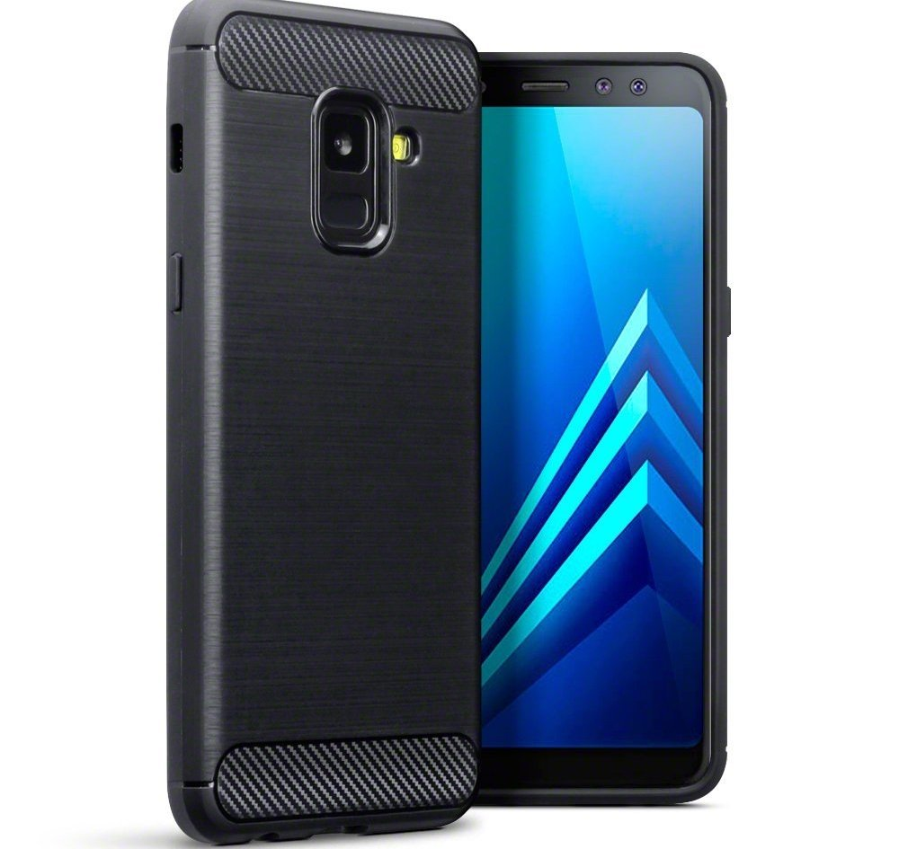 Terrapin Θήκη Σιλικόνης Carbon Fibre Design Samsung Galaxy A8 2018 - Black (118-002-666)