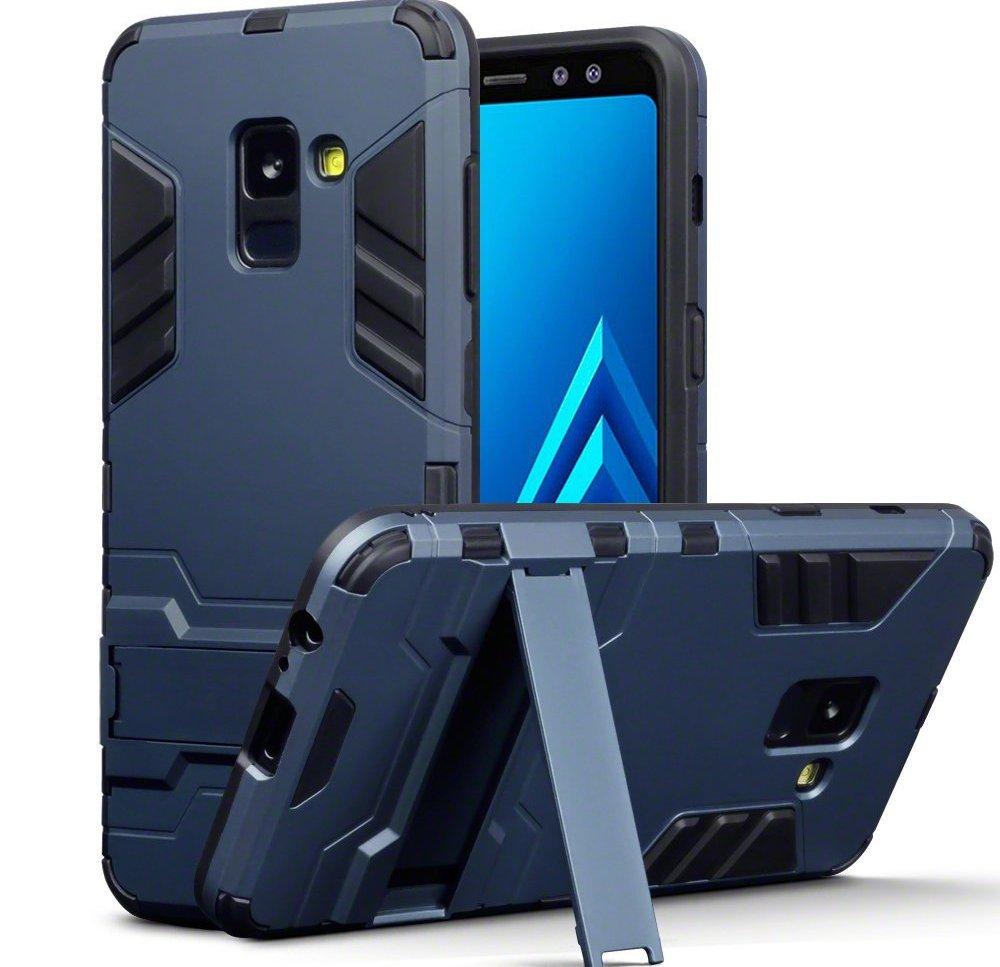 Terrapin Ανθεκτική Dual Layer Θήκη Samsung Galaxy A8 2018 - Blue (131-002-069)