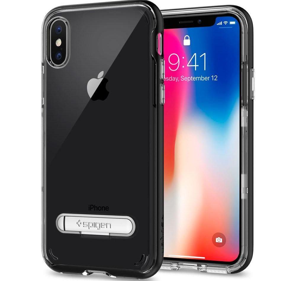 Spigen Crystal Hybrid Θήκη iPhone X / 10 - Black (057CS22147)