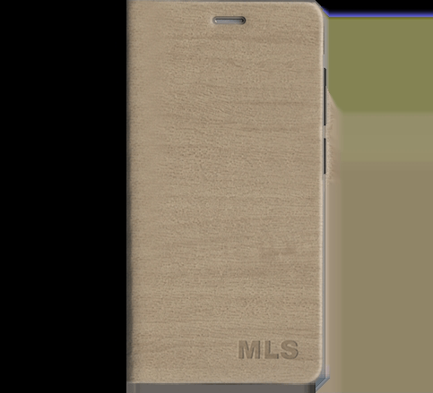 Flip Θήκη MLS MX 4G + Protective Film - Champagne (32.ML.500.063)