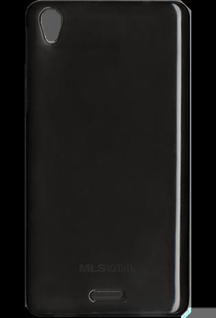 Ultra Thin Θήκη Σιλικόνης MLS iQTalk Twist - Transparent Black (11.CC.520.074)