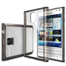 Ringke (Fusion) Διάφανη Θήκη Blackberry Passport PC με TPU Bumper Smoke Black + Screen Protector (7722)