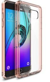 Ringke (Fusion) Διάφανη Θήκη Samsung Galaxy A3 II (2016) με TPU Bumper Rose Gold + Screen Protector (7710)
