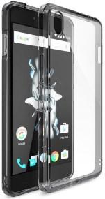 Ringke (Fusion) Διάφανη Θήκη OnePlus X PC με TPU Bumper Smoke Black + Screen Protector (7715)