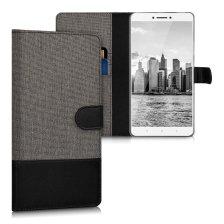 KW Θήκη - Πορτοφόλι Xiaomi Mi Max - Grey/ Black (40338.01)