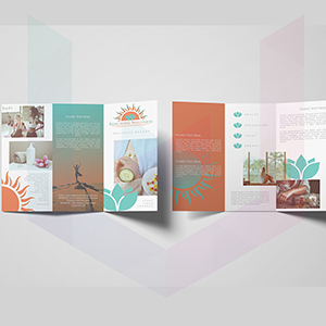 Brochure design for wellness industry (graphic design)