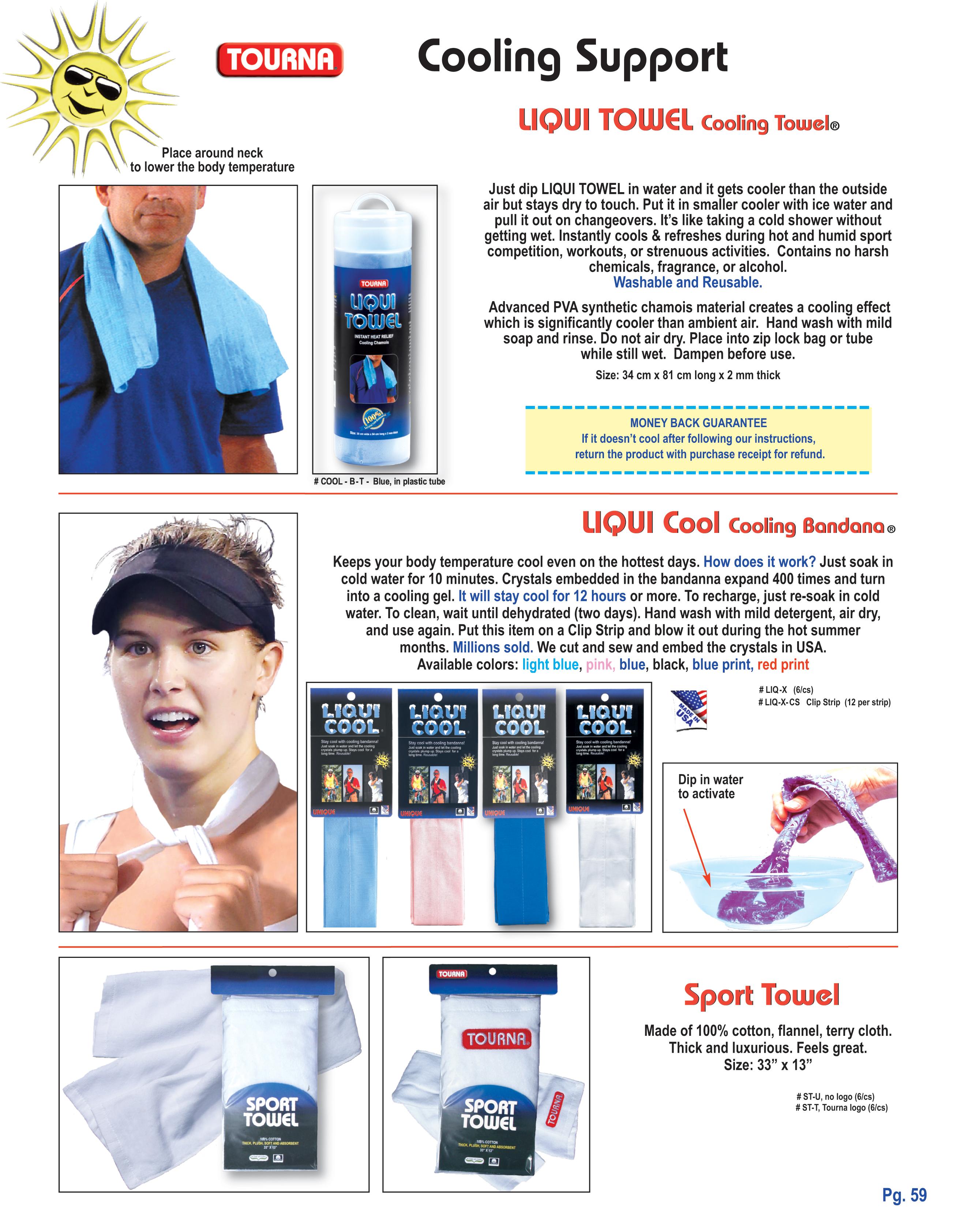 Brand New Sealed Blue Tourna Liqui Towel