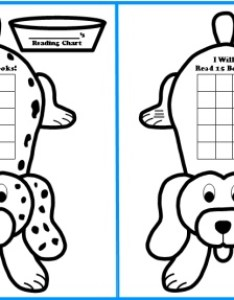 Free dog sticker chart templates for reading also shaped charts rh uniqueteachingresources