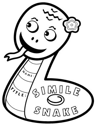 Simile Lesson Plans: Fun Snake Shaped Simile Poetry