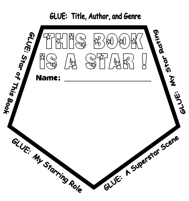 Star Book Report Projects: templates, worksheets, grading
