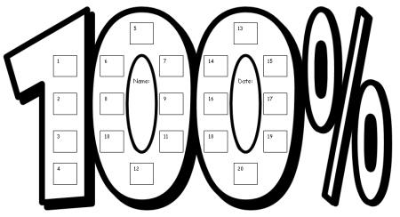 100 Percent Club Sticker Charts: Fun Incentive Charts For