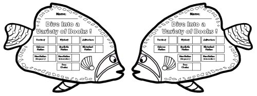 Dive Into Reading Sticker Charts: Fish Shaped Incentive