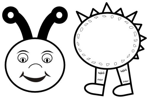 isimez: black and white caterpillar
