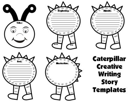 Large Caterpillar Writing Templates: Caterpillar Shaped