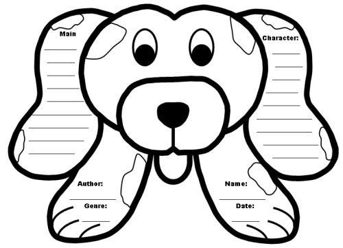 Dog Book Report Project: templates, worksheets, grading