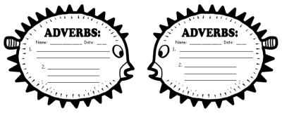 Parts of Speech Displays: Parts of Speech Bulletin Board