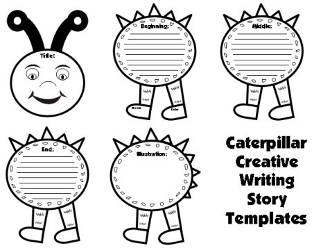 Large Caterpillar Writing Templates: Caterpillar Shaped