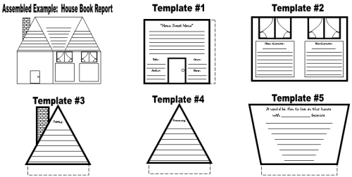 House Book Report Project: templates, worksheets, grading
