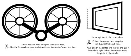 Movie Camera Book Report Project: templates, worksheets