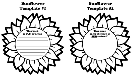 Sunflower Book Report Projects: templates, worksheets