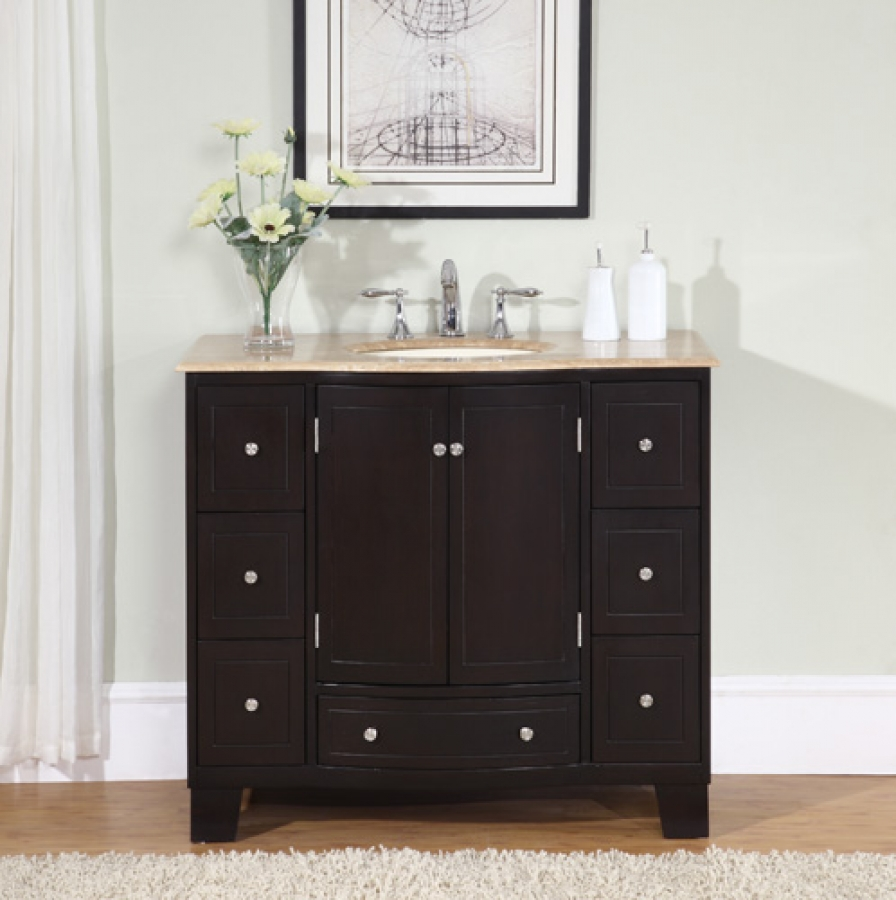 40 Inch Single Sink Espresso Bathroom Vanity