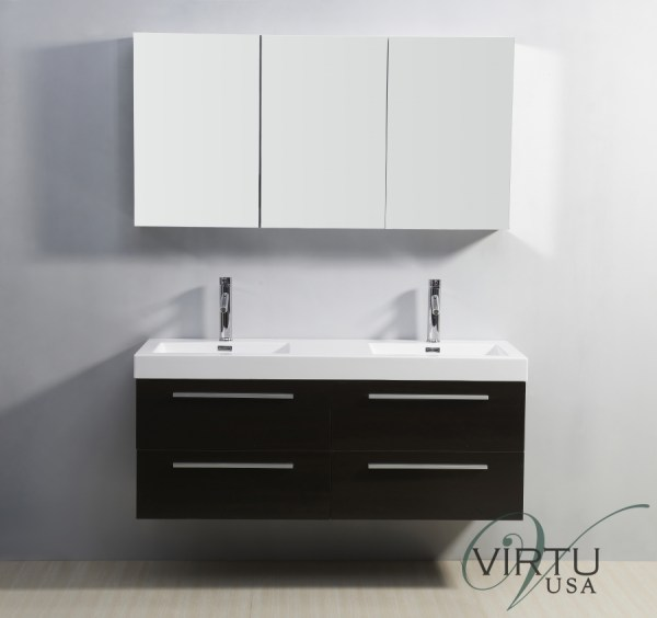 Double Sink Bathroom Vanity With Soft Closing Drawers Uvvu50754wg54